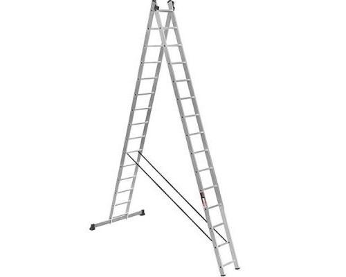 Лестница Stark Алюминиевая двухсекционная усиленная 2*15 SVHR2x1 (525215410)