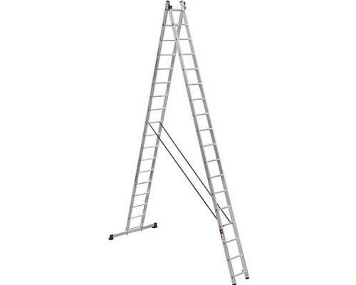 Лестница Stark Алюминиевая двухсекционная усиленная 2*17 SVHR2x1 (525217412)